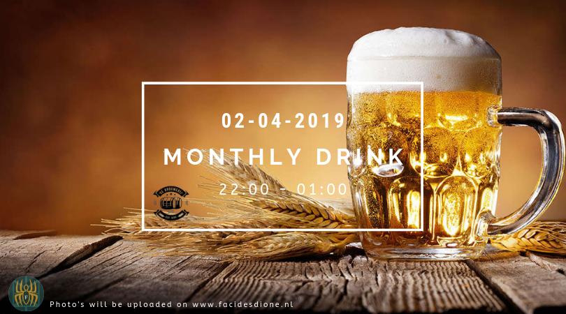Achtste maandelijkse borrel // Eighth monthly drink